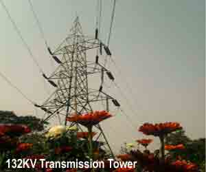 Electrical power is generated at the Station, and transmitted to load centers through an electrical transmission system.