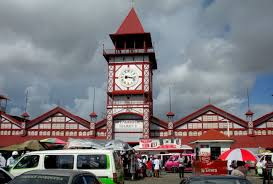 The Stabroek Market in the City of Georgetown, Guyana, South America. The market was designed and constructed by the Edgemoor Iron Company of Delaware, USA over the period 1880-1881. It's a famous zone where the Gospel is being preached for decades.